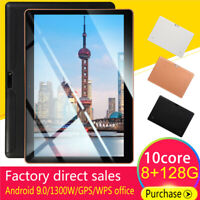 """10.1"""" Android 9.0 8G+128G HD Tablet PC Deca-Core Google WIFI Dual Camera Phablet"""