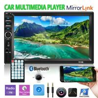"""7"""" Double 2DIN Car Bluetooth Touch Screen Stereo Radio USB AUX IN MP5 Player"""