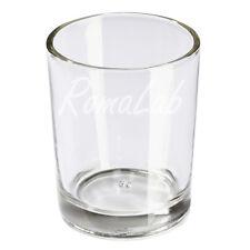 2 PORTACANDELA in vetro TRASPARENTE porta candele lumino tè Porta tea light 6 cm
