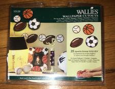 WALLIES Wallpaper Cutouts Decor 25 SPORTS Balls Decals Foot/Basket/Baseball