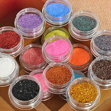 16 Mixed Glitter Powder Dust Eyeshadow Set For Makeup Cosmetics Eye Shadow New