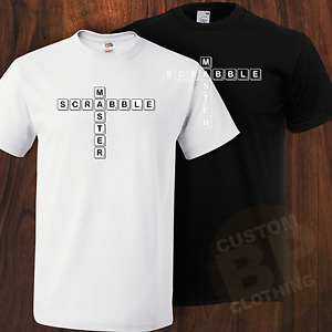 New Scrabble Master Inspired Tshirt, Wear With Pride, Black Or White, Small_XXL
