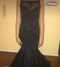 Black lace beautiful evening gown size 2