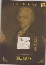 2017 Bar Pieces of the Past James Monroe Relic PR-JH02 SP Document