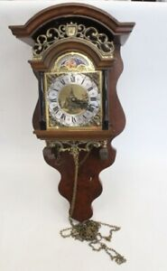 Vintage FRANZ HERMLE Wooden Wall Clock Made In Holland SPARES/Repairs - C75