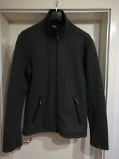 Strick-Fleece Jacke von ICEPEAK, mit Ellbogenpatches, warm +  winddicht, Gr. M