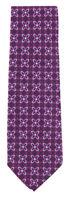 "New Finamore Napoli Purple Geometric Tie - 3.25"" x 57"" - (TIEGEOX217)"