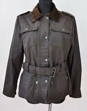 MC ORVIS Vintage Women's Medium Cotton Waxed Zip Jacket Brown Coat Cords Collar