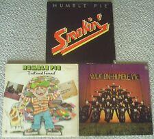 "HUMBLE PIE X 3 ""SMOKIN', LOST & FOUND. ROCK ON"" all  original pressings"