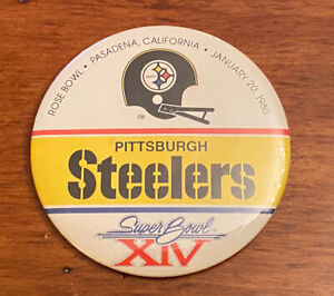 1980 Pittsburgh Steelers Super Bowl XIV Rose Bowl Pin Button