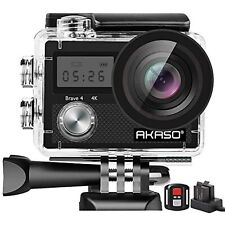 AKASO Brave 4 Action Camera, 4K HD 20MP Wifi Underwater 30m Eis Cam with Remote