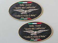 PATCH MOTO GUZZI QUELLI DEL CALIFORNIA N.2  RICAMATO TERMOADESIVA  10X6-COD.404