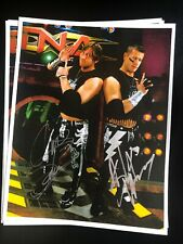 Autographed Motor City Machine Guns 8x10 TNA Impact ROH Wrestling