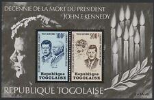 Togo #C208a MNH S/S 10th Anniv Death of John F Kennedy