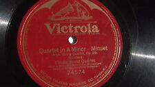 Elman String Quartet - 78rpm single 12-inch – Victrola #74574 Quartet In A Minor