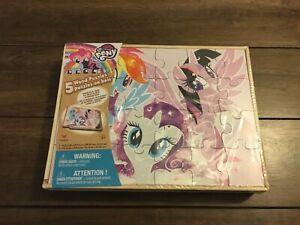 My Little Pony 5 Wood Puzzles Storage Box Tray Educational Learn Jigsaw Kids New