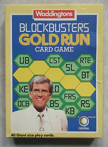 Vintage Card Game BLOCKBUSTERS GOLD RUN WADDINGTONS 1980s 1985 RETRO CLASSIC TV