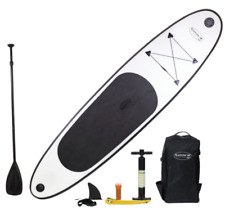 10 Ft Inflatable SUP Stand Up Paddle Board w/ Adjustable Paddle +Travel Backpack