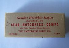 Vintage box genuine HOTCHKISS Staples commercial grade Norwalk CT Made in USA