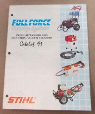 1991 OEM STIHL Pressure Washer & Industrial Vacuum Cleaner Sales Literature