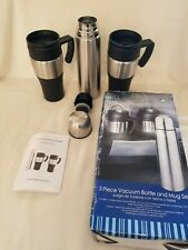 3 PIECE STAINLESS STEEL VACUUM BOTTLE AND MUG SET NEW IN BOX