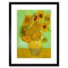 Van Gogh Twelve Sunflowers Old Master Framed Wall Art Print