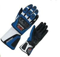 Suzuki GSXR Racing Motorcycle Leather Gloves Motorbike leather gloves