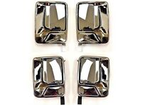 Fits Ford F Super Duty Pickup Outside Outer Exterior Door Handle Set 4 Chrome