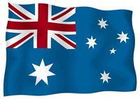 Sticker decal vinyl decals national flag car ensign bumper australia australian