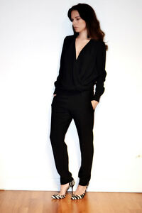 IRO Black Crepe Tux Esther Jumpsuit All In One Trousers