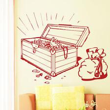 10166 Wall Tattoo Loft ® Wall Tattoo Sticker Treasure Chest Treasure Pirate Gold