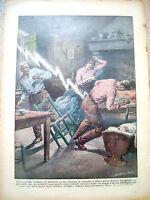67) 1931 FULMINE SU FAMIGLIA DI FARRA D'ISONZO (GORIZIA) DOMENICA DEL CORRIERE