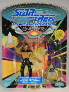 1992 Star Trek Next Generation Lt. Commander Geordi La Forge Can FR-ENG L015312