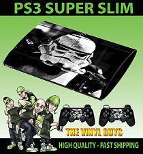 PLAYSTATION PS3 SUPER SLIM STORMTROOPER STAR WARS EMPIRE SOLDIER SKIN STICKER