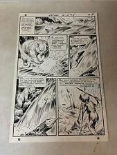 ANTHRO #5 original art 1969, LART FISHING STALKED BY GRIZZLY BEAR, HOWIE POST