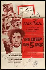 THE SHEEP HAS FIVE LEGS Fernandel 1955 ORIGINAL 1-SHEET MOVIE POSTER
