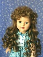 Imsco ANNETTE Auburn Full Cap Doll Wig Size 12  Long curls, bangs