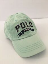 Polo Ralph Lauren Mens Chino Cap Hat Size OS Offshore Green Polo 1967