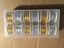 12x Spool of Oval Tinsel GOLD & SILVER, Fly Tying, Fly Fishing