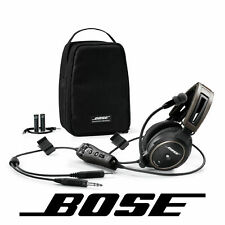 Bose A20 Aviation Headset Battery Power GA/Dual Plug W/ Bluetooth 324843-3020