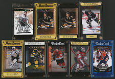 9 1994-2011 HOCKEY AUTOGRAPHED ROOKIES LEMIEUX GRETZKY BRODEUR HALL KANE BOURQUE