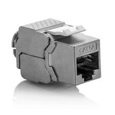 deleyCON CAT 6a Keystone Jack Modul RJ45 STP werkzeuglos Netzwerk LAN Adapter