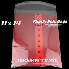 11x14 Poly Clear Plastic Bags Self Adhesive Seal T Shirt Apparel Resealable