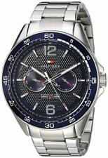 BRAND NEW Tommy Hilfiger Men's Multifunction Blue Dial Silver Watch 1791366