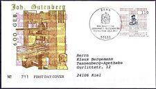 BRD 2000: Johannes Gutenberg! FDC der Nr 2098 mit Bonner Stempel! Gelaufen! 1912