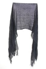 LADIES STUNNING BLACK/SILVER CABLE KNIT TASSELED SILVER INFUSED SCARF (MS41pt1)
