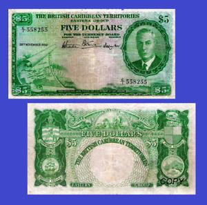 British Caribbean Territories 5 dollar 1950  CA  -Reproduktion