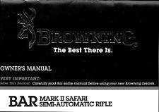 Browning Bar Mk Ii Safari Rifle Owners Manual