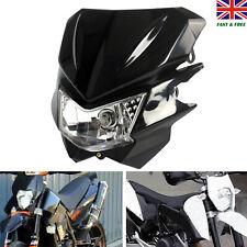 Motorcycle Universal LED Headlight Lamp Fairing Street Fighter Dirt Bike