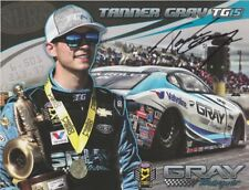 """2017 Tanner Gray signed Valvoline """"2nd issued"""" Chevy Camaro Pro Stock postcard"""